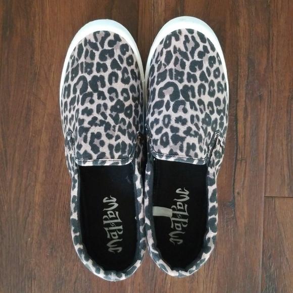 Leopard Canvas Sneaker Slip Ons   Poshmark